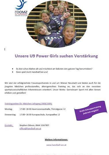 Unsere U9 Power Girls suchen Dich