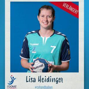 Lisa Heidinger bleibt dem Roomz Hotels ZV Handball Wiener Neustadt treu